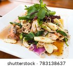 shrimp salad with lemon grass... | Shutterstock . vector #783138637