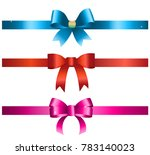 3d shiny ribbon colored icons... | Shutterstock . vector #783140023