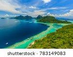 scenic panoramic top view of... | Shutterstock . vector #783149083