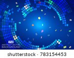 blue and blue swirls make up...   Shutterstock .eps vector #783154453