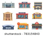 shops and municipal buildings ... | Shutterstock . vector #783154843