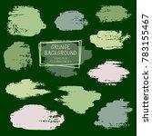 vector paint brush spots  hand... | Shutterstock .eps vector #783155467