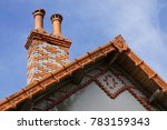 Old Fashion Chimney And Roof...