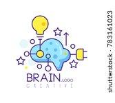 colorful line art logo design... | Shutterstock .eps vector #783161023