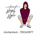 vector street style poster.... | Shutterstock .eps vector #783165877