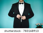 grooms morning preparation ... | Shutterstock . vector #783168913