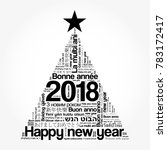 2018 happy new year in... | Shutterstock .eps vector #783172417