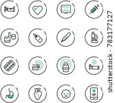 line vector icon set   hotel... | Shutterstock .eps vector #783177127