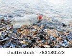 plastic pollution in ocean ...   Shutterstock . vector #783180523
