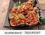 baked stuffed eggplant | Shutterstock . vector #783190147