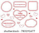 a set of red polka dot message... | Shutterstock .eps vector #783191677