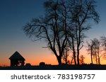 sunset in belogorskiy monastery ... | Shutterstock . vector #783198757