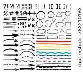 marker pen written shapes.... | Shutterstock . vector #783210163