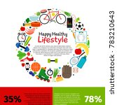 healthy lifestyle food... | Shutterstock . vector #783210643
