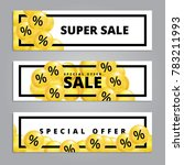sale balloons yellow   Shutterstock .eps vector #783211993
