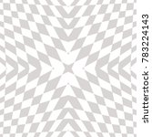 vector geometric checkered... | Shutterstock .eps vector #783224143
