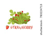ripe strawberry berry bush with ... | Shutterstock .eps vector #783224713