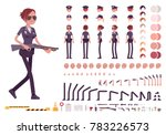 young policewoman  female... | Shutterstock .eps vector #783226573
