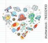 moon surface. kindergarten... | Shutterstock .eps vector #783232933