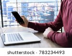 a person using his smartphone | Shutterstock . vector #783234493