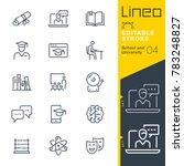 lineo editable stroke   school... | Shutterstock .eps vector #783248827