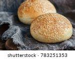 round bun  sesame bun  bread...   Shutterstock . vector #783251353
