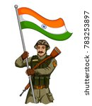 illustration of indian army... | Shutterstock .eps vector #783253897