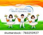 illustration of indian kid... | Shutterstock .eps vector #783253927