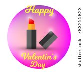 happy valentin s day with... | Shutterstock .eps vector #783255823