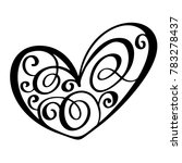 vintage heart for valentines... | Shutterstock . vector #783278437