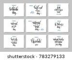 set of hand lettering posters... | Shutterstock .eps vector #783279133