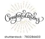 congratulations calligraphy ... | Shutterstock . vector #783286603