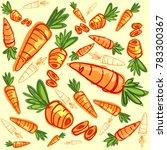 carrot cartoon doodle | Shutterstock .eps vector #783300367