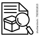 order status tracking concept... | Shutterstock .eps vector #783301813
