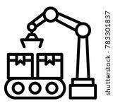 conveyor belt production line... | Shutterstock .eps vector #783301837