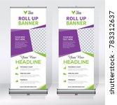 roll up banner design template  ... | Shutterstock .eps vector #783312637