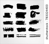 vector black ink paint brush... | Shutterstock .eps vector #783324403