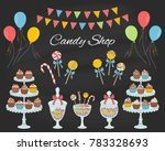 vector  illustration of candy... | Shutterstock .eps vector #783328693