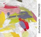 oil painting on canvas handmade....   Shutterstock . vector #783339433