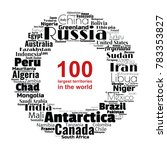 100 biggest countries word... | Shutterstock .eps vector #783353827