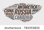 100 biggest countries word... | Shutterstock .eps vector #783353833