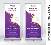 roll up banner design template  ... | Shutterstock .eps vector #783355753