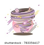 crazy virus bacteria swirl  flu ... | Shutterstock .eps vector #783356617