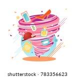 unstoppable shopping lust swirl ... | Shutterstock .eps vector #783356623