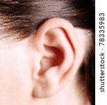 closeup of a human ear | Shutterstock . vector #78335983