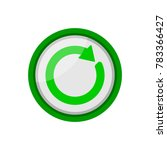 refresh button icon | Shutterstock .eps vector #783366427