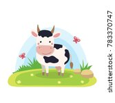 farm animals with landscape  ... | Shutterstock . vector #783370747