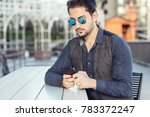 a young handsome man in... | Shutterstock . vector #783372247