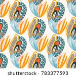 floral seamless pattern. hand... | Shutterstock .eps vector #783377593