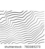 warped wavy lines.waved lines... | Shutterstock . vector #783385273